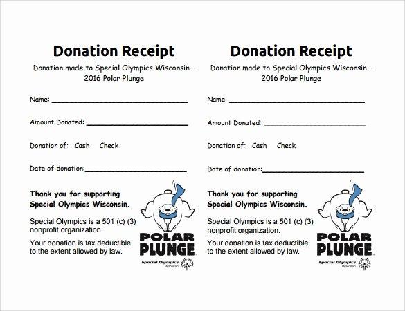 Free Donation Receipt Template Fresh 9 Donation Receipt Templates Free Samples Examples format