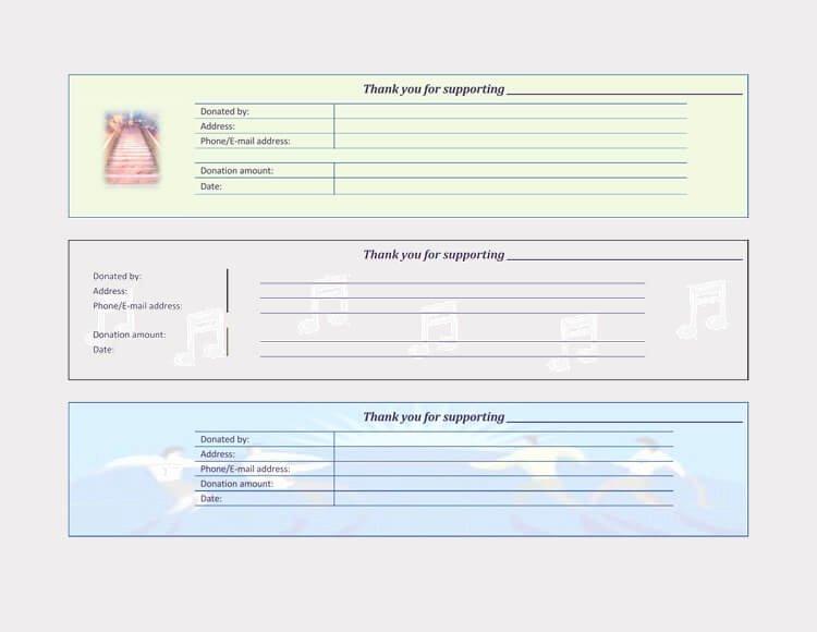 Free Donation Receipt Template Luxury 45 Free Donation Receipt Templates & formats Docx Pdf