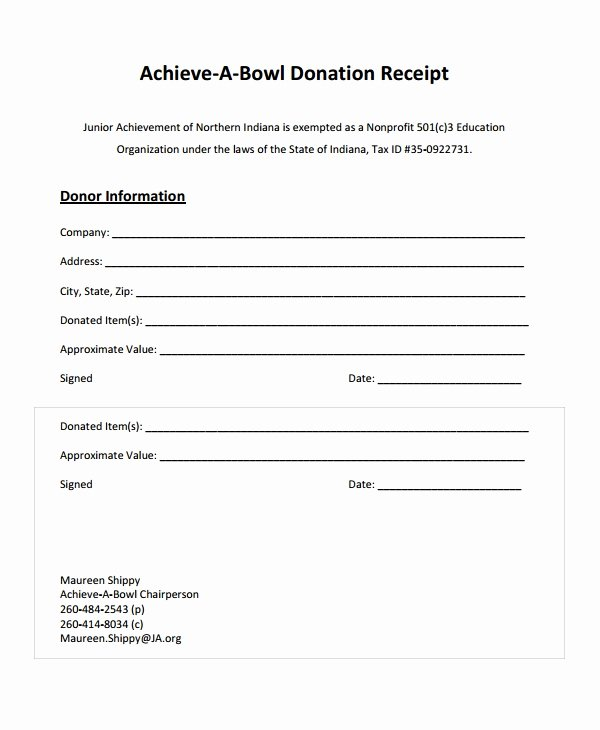 Free Donation Receipt Template New Sample Receipt Templates 28 Free Documents Download In