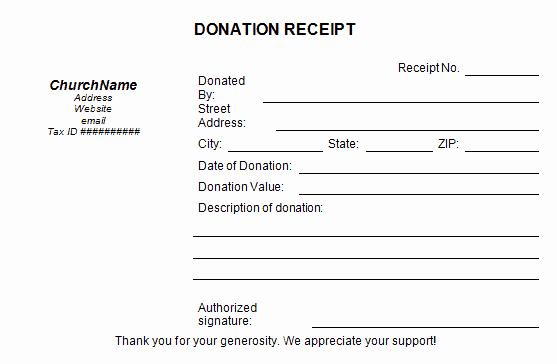 Free Donation Receipt Template Unique 5 Charitable Donation Receipt Templates Free Sample