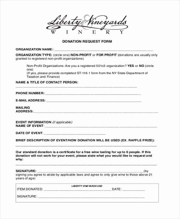 Free Donation Request form Template Fresh Free 10 Sample Donation Request forms