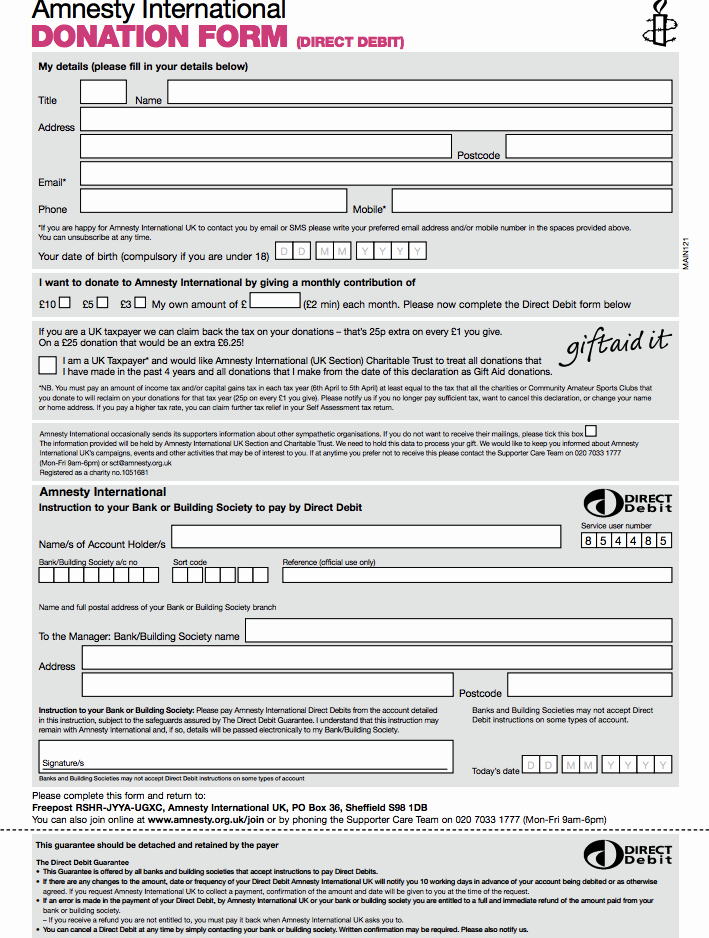 Free Donation Request form Template Lovely Amnesty Donation form Template Donation form Template