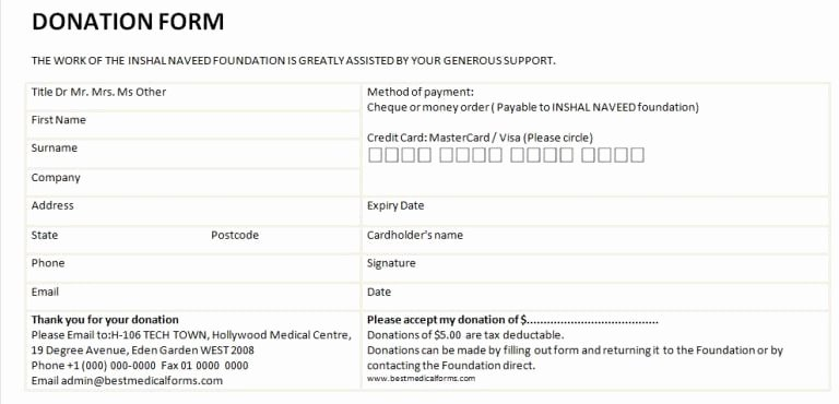 Free Donation Request form Template Luxury 6 Charitable Donation form Templates Free Sample Templates