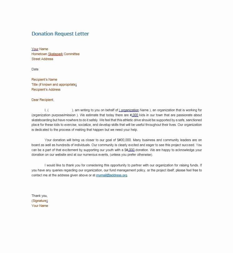 Free Donation Request form Template Unique 43 Free Donation Request Letters & forms Template Lab