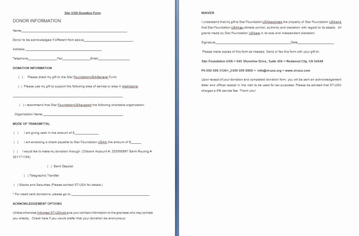 Free Donation Request form Template Unique Donation form Template Free formats Excel Word