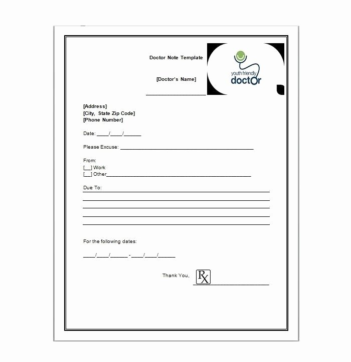 Free Dr Note Template Best Of Free Printable Doctors Note for Work