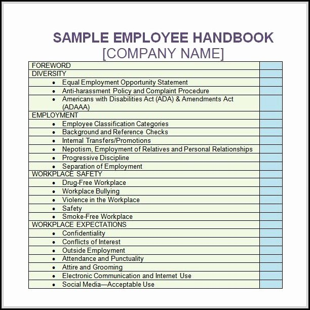 Free Employee Handbook Template Beautiful Employee the Month Certificate Template Free Template