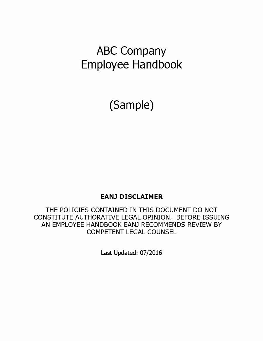 Free Employee Handbook Template Lovely 42 Best Employee Handbook Templates & Examples Template Lab