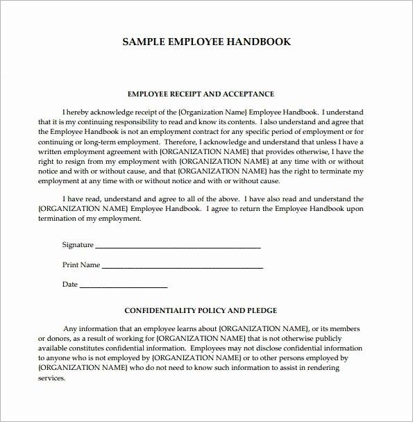 Free Employee Handbook Template Pdf Unique Employee Handbook Template 6 Free Pdf Doc Download