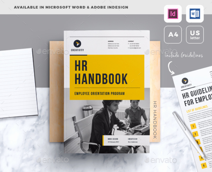 Free Employee Handbook Template Word Awesome Employment Handbook Template for Word