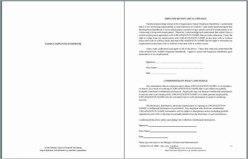Free Employee Handbook Template Word Luxury Free Download 40 Employee Handbook Template Picture