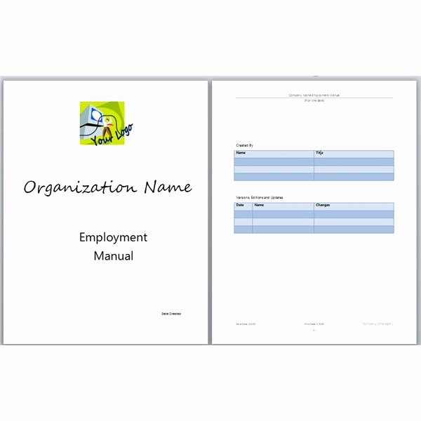 Free Employee Handbook Template Word Luxury Microsoft Word Manual Template Basic and Employment