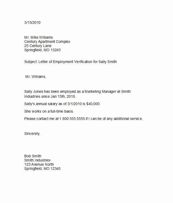 Free Employee Verification form Template Fresh 11 Employee Verification Letter Examples Pdf Word