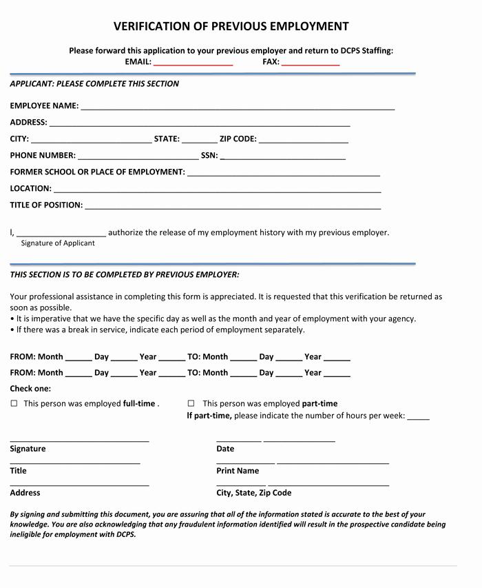 Free Employee Verification form Template Luxury 5 Employment Verification form Templates to Hire Best Employee