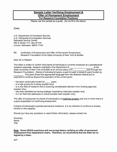 employment verification letter template
