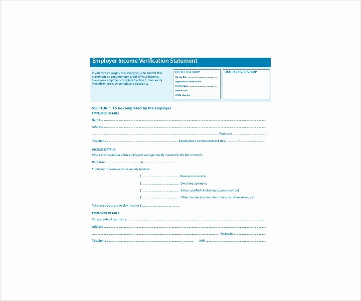 Free Employee Verification form Template Unique 9 Employment Verification forms Free Pdf Doc format