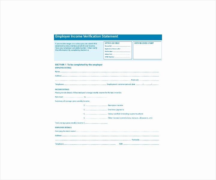 Free Employee Verification form Template Unique 9 Employment Verification forms Free Pdf Doc format