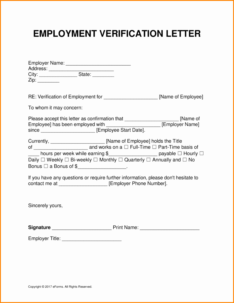 Free Employment Verification form Template Fresh 7 Employment and Salary Verification Letter Sample