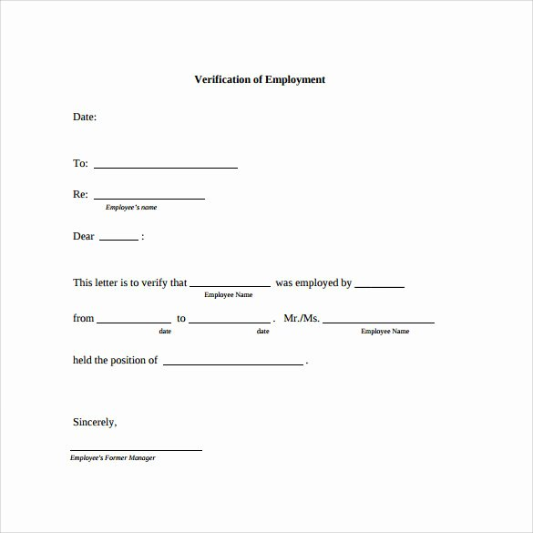 Free Employment Verification form Template New Employment Verification Letter 14 Download Free