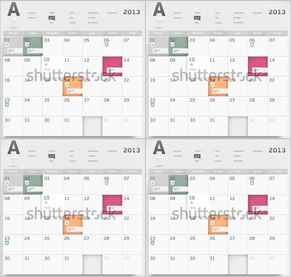Free event Calendar Template Elegant event Calendar Templates 16 Free Download