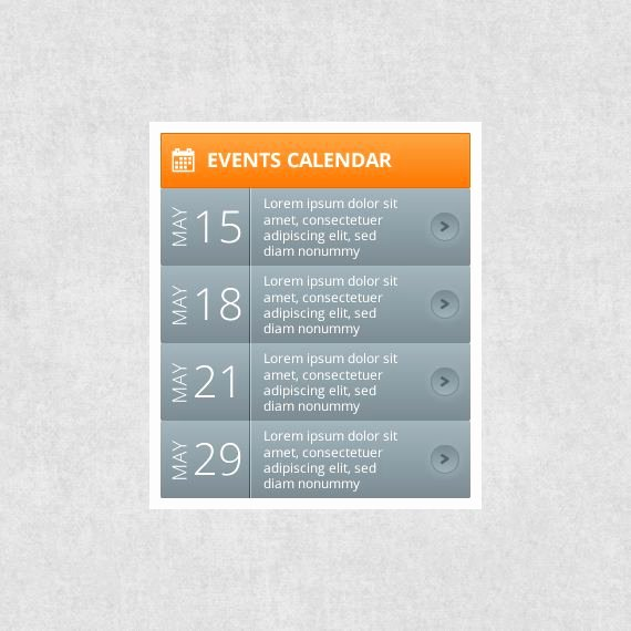 Free event Calendar Template Fresh events Calendar Free Web Ui Elements