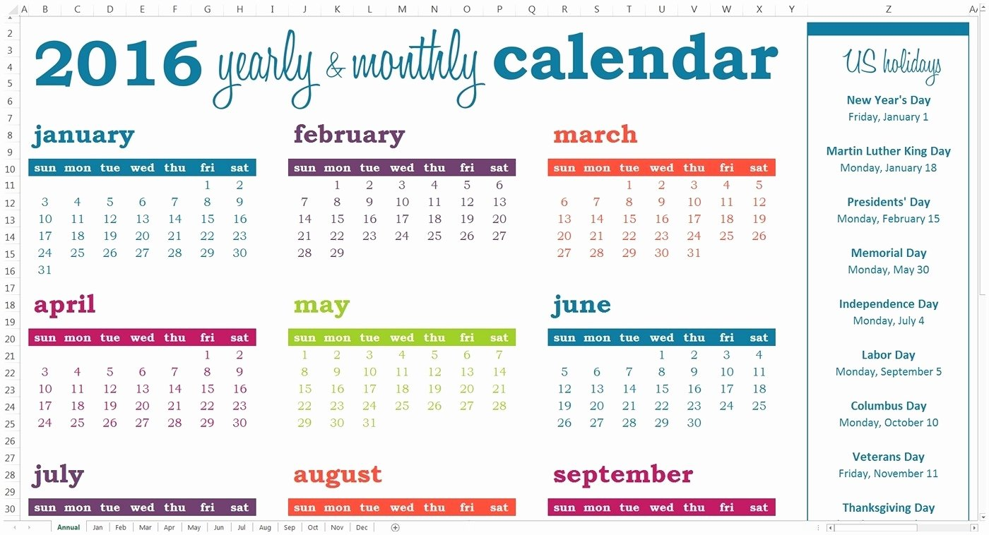 Free event Calendar Template Inspirational Year event Calendar Template