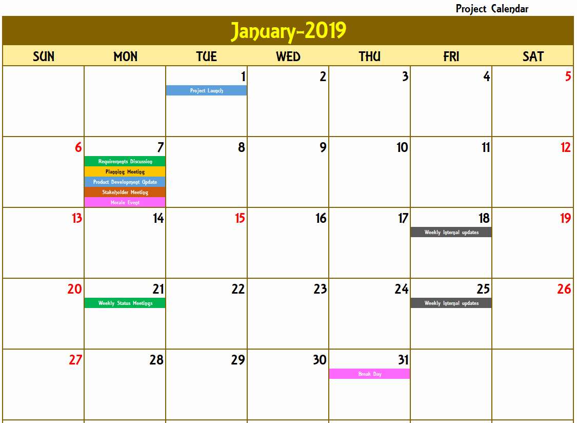 Free event Calendar Template Lovely Excel Calendar Template Excel Calendar 2019 2020 or Any