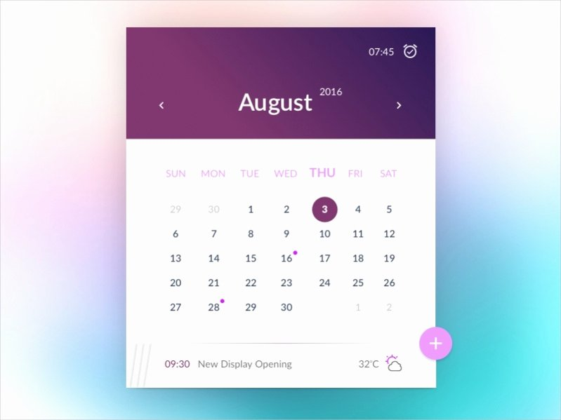 Free event Calendar Template New 17 Free Monthly Calendars Psd Vector Eps Excel Download