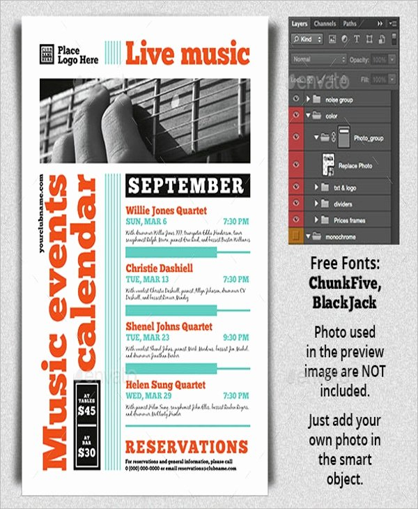 Free event Calendar Template Unique 17 Calendar Flyer Templates Psd In Design Vector Eps