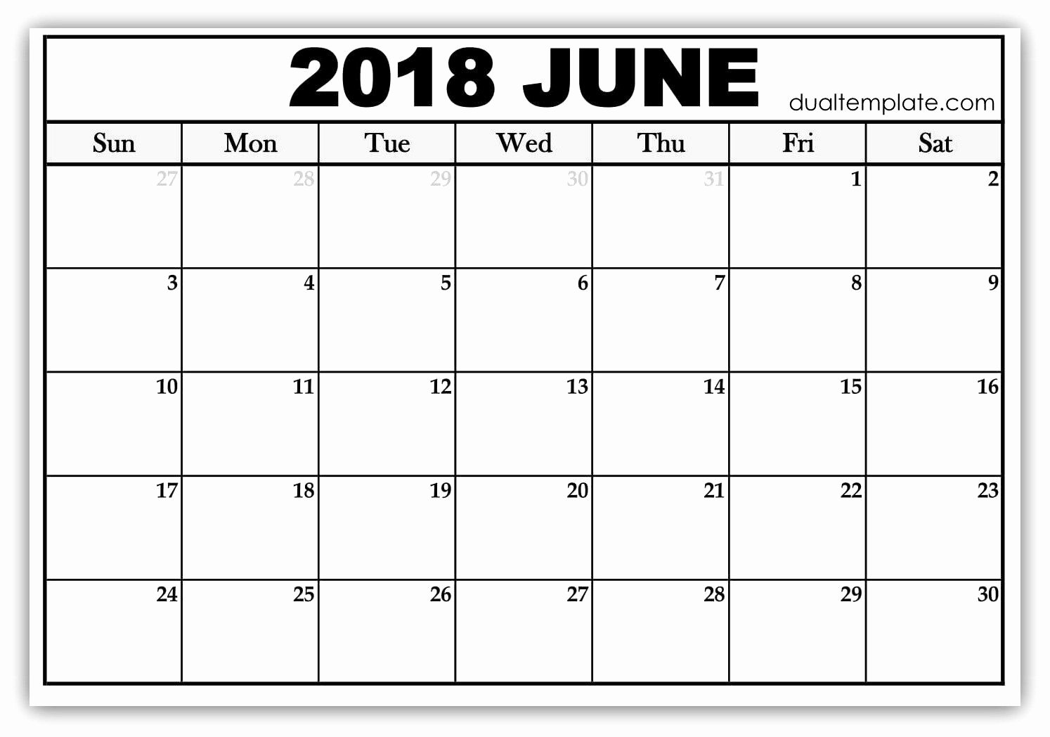 Free event Calendar Template Unique Pin by Akhil Sharma On June 2018 Calendar Printable