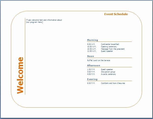 Free event Program Template Elegant Generic event Program Template