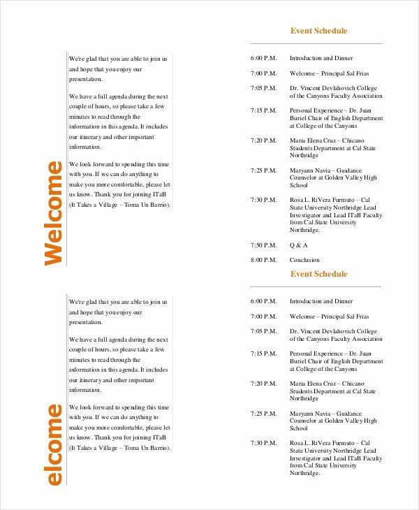 Free event Program Template Fresh event Program Template