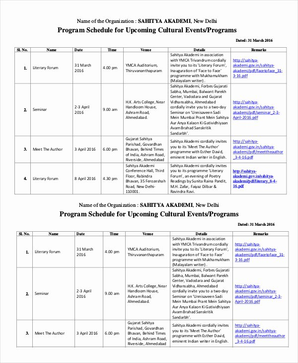Free event Program Template Luxury event Program Template