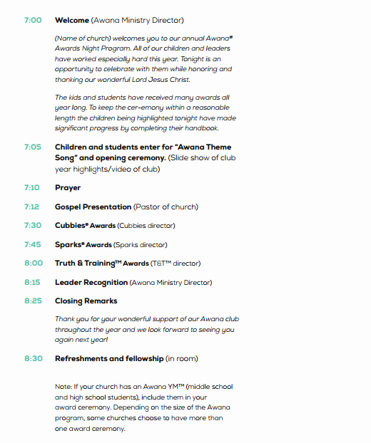 Free event Program Template Unique 4 Awards event Program Templates formats Examples In