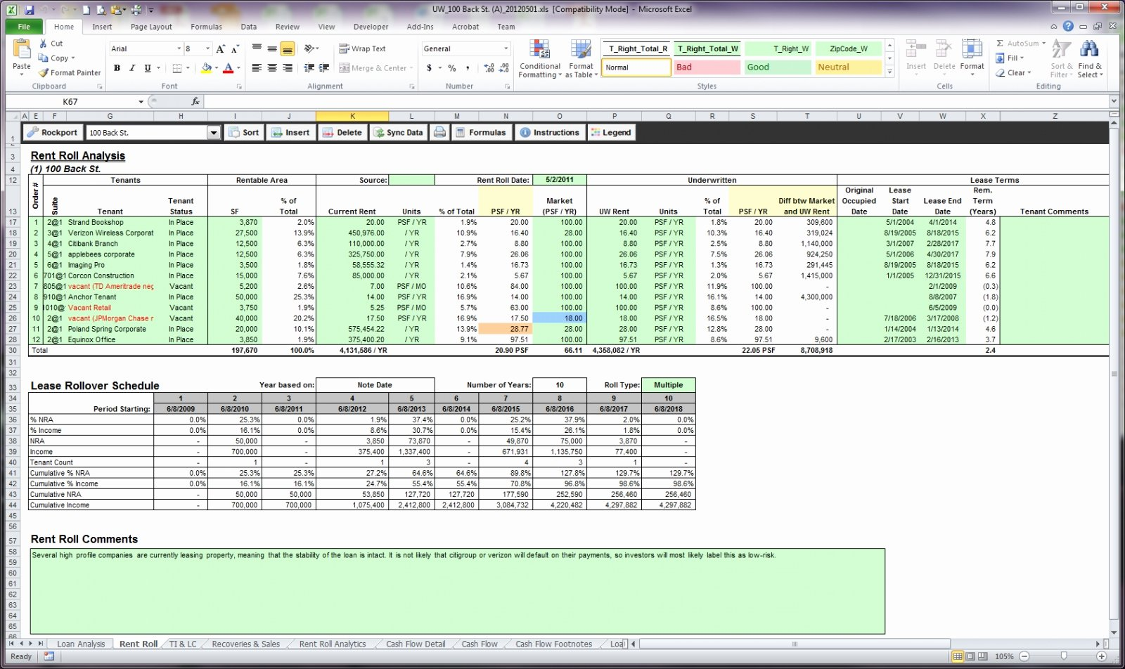 Free Excel Rent Roll Template Beautiful Rent Roll Sample Excel