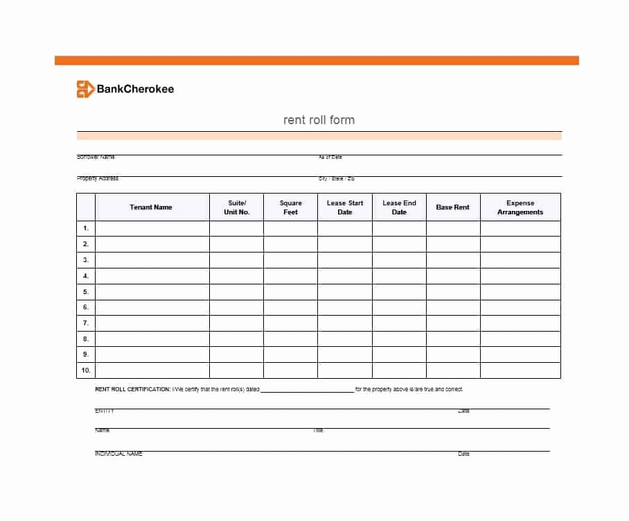 Free Excel Rent Roll Template Best Of 47 Rent Roll Templates & forms Template Archive