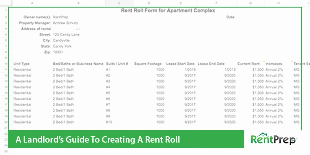Free Excel Rent Roll Template Elegant What is A Rent Roll All About This Report with Templates