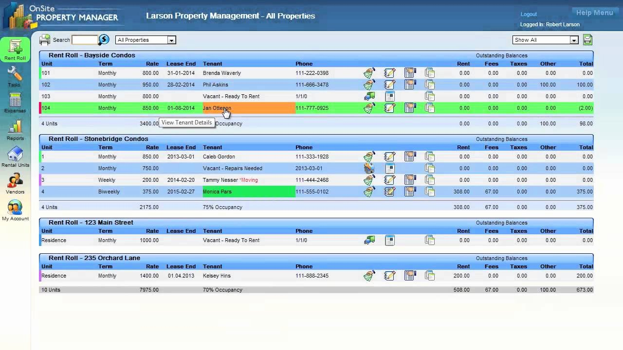 Free Excel Rent Roll Template Fresh Sitepropertymanager Rent Roll Overview