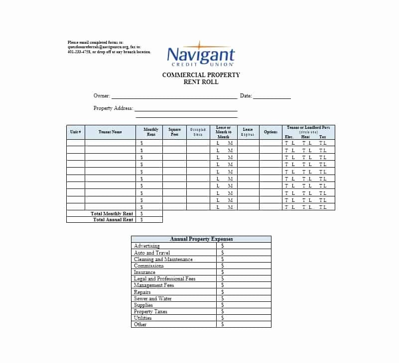 Free Excel Rent Roll Template New 47 Rent Roll Templates & forms Template Archive