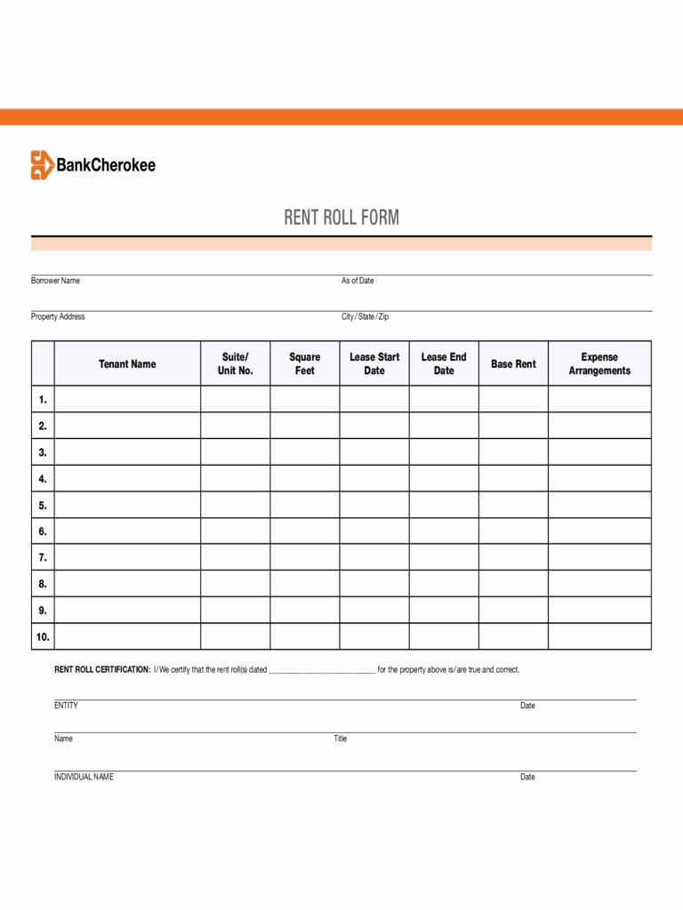 Free Excel Rent Roll Template New Free Excel Rent Roll Template