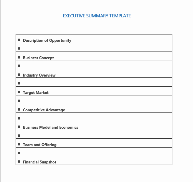 Free Executive Summary Templates Awesome 18 Free Executive Summary Templates Ms Fice Documents