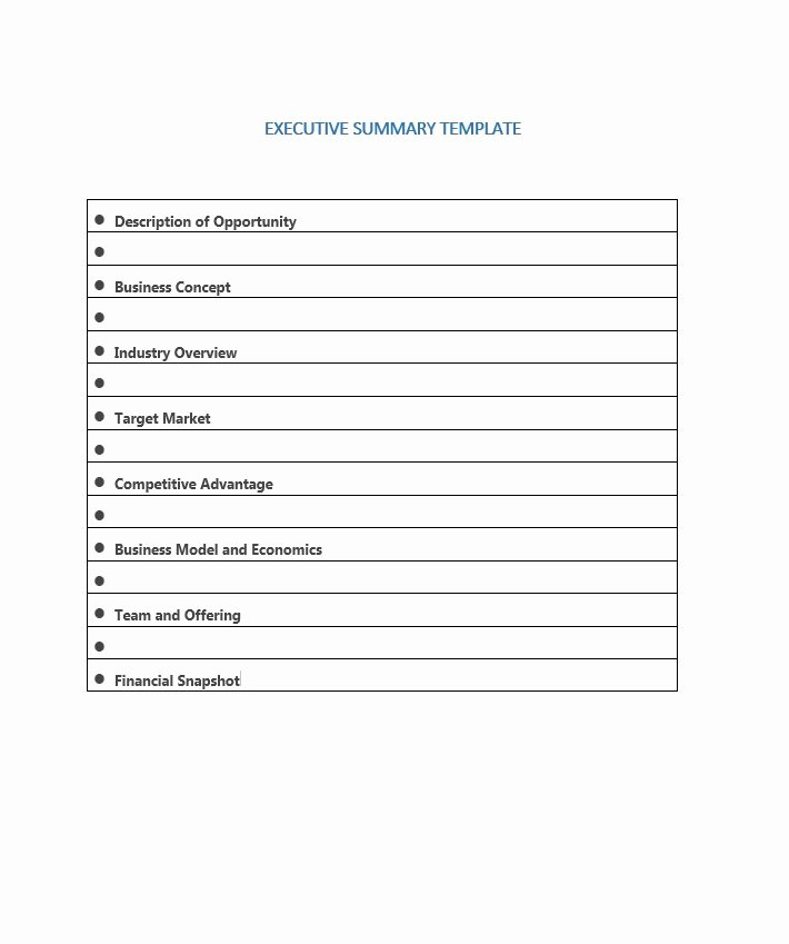 Free Executive Summary Templates Beautiful 30 Perfect Executive Summary Examples & Templates