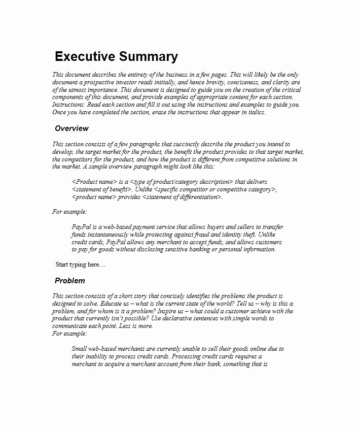 Free Executive Summary Templates Elegant 30 Perfect Executive Summary Examples & Templates