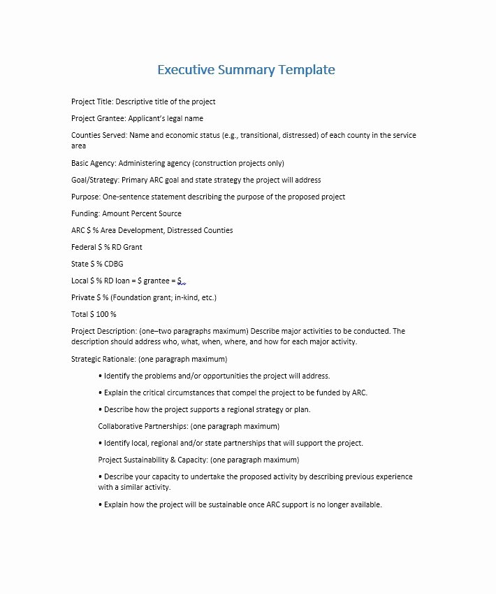 Free Executive Summary Templates Fresh 30 Perfect Executive Summary Examples & Templates