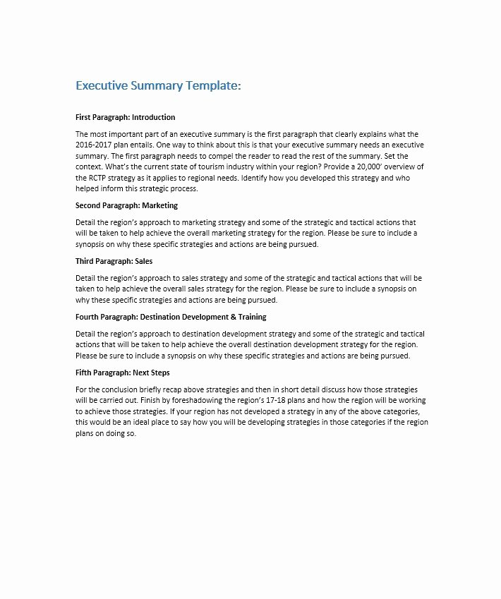Free Executive Summary Templates Inspirational 30 Perfect Executive Summary Examples & Templates