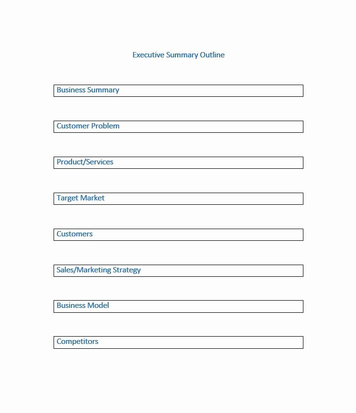 Free Executive Summary Templates Luxury 30 Perfect Executive Summary Examples & Templates