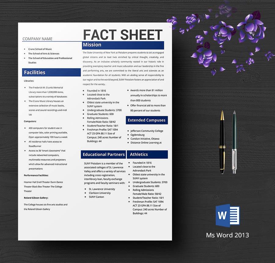 Free Fact Sheet Template Best Of Fact Sheet Template