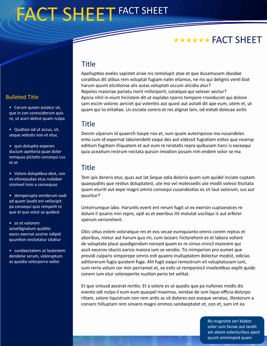 Free Fact Sheet Template Unique Fact Sheet Template On Behance