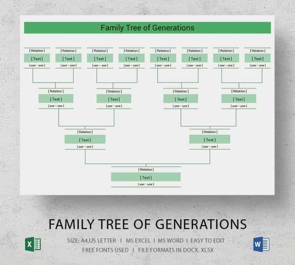 Free Family Tree Template Excel Fresh Simple Family Tree Template 25 Free Word Excel Pdf