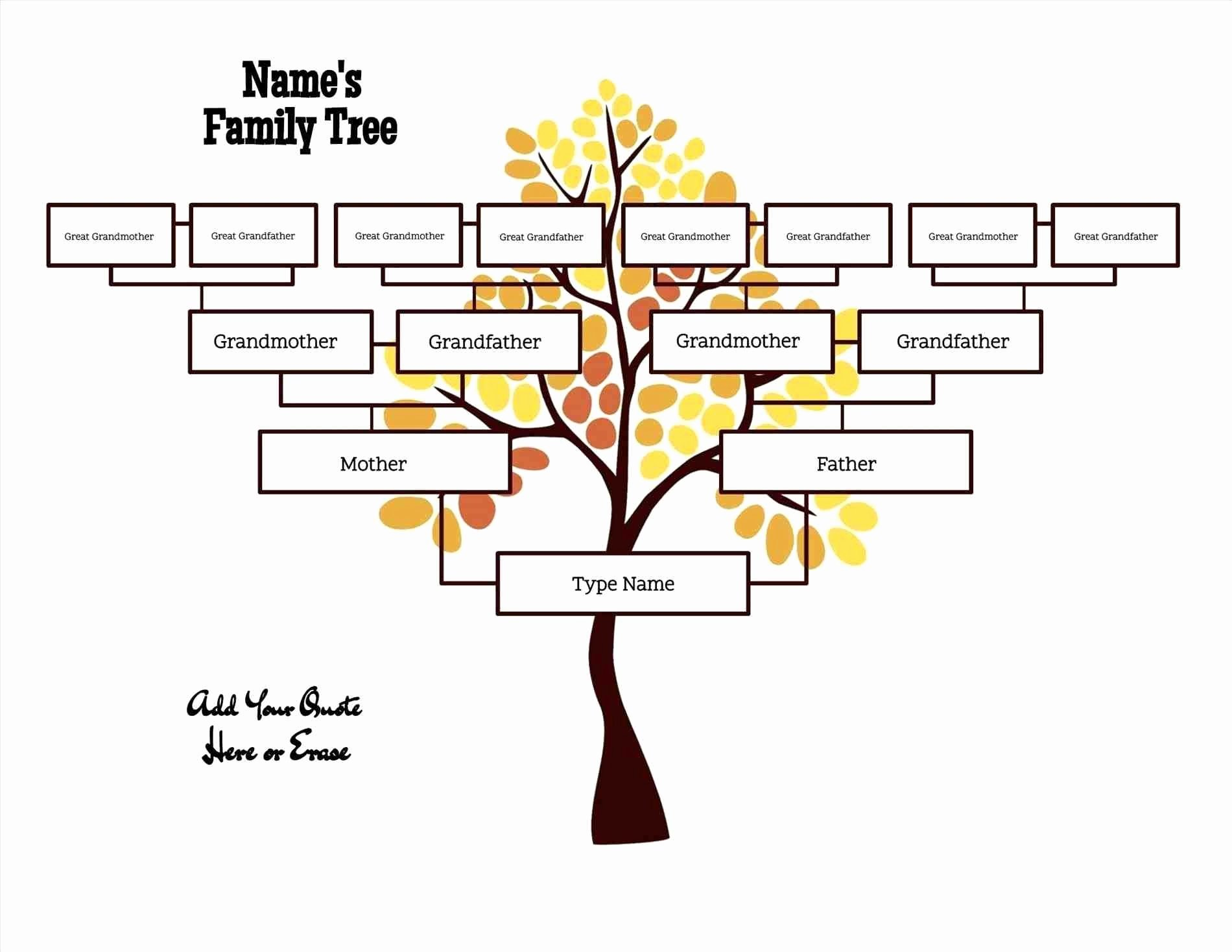 Free Family Tree Template Lovely Free Editable Family Tree Template Daily Roabox